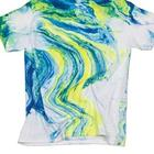 Blue and Yellow Galactic Tie Dye T-Shirt