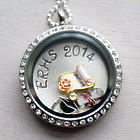 Graduate's Personalized Floating Locket Necklace