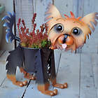 Painted Yorkie Puppy Planter