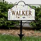 Personalized Family Word-Art Magnetic Yard Sign Set
