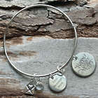 Happy Mother's Day Personalized Wire Bangle Bracelet