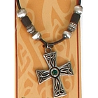 Beaded Celtic Cross Pendant