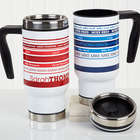 Personalized Signature Stripe Commuter Travel Mug