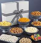 Snacks and Sweets in Jumbo Gold Sparkle Simply White Box