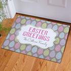 Personalized Easter Greetings Doormat
