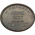 Personalized Welcome Oval Established Family Plaque