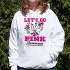 Cheerleader Go Pink Breast Cancer Hooded Sweatshirt