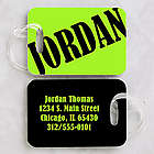 Personalized Neon Luggage Tag Set