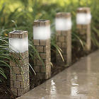 Solar Faux Brick Mini Tower Pathway Lights