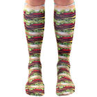 Hamburger Foodie Knee Highs
