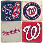 Washington Nationals Italian Marble Coasters with Iron Holder