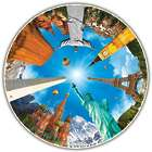 Legendary Landmarks 500 Piece Round Table Puzzle