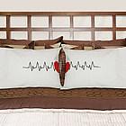 Heart Beats as One Personalized Pillowcase Set
