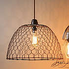 Chicken Wire Basket Hanging Lamp