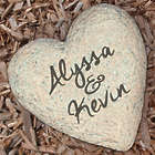 Couple's Personalized Heart Garden Stone with Engraved Names