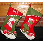 Climbing the Christmas Tree Personalized Stocking