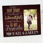 Love Story Personalized Couple Frame