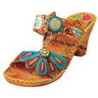 Jamaica Hand-Painted and Embossed Leather Sandals