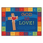 God is Love Rectangle Learning Rug