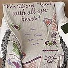 All Our Hearts Personalized Afghan
