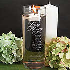Personalized In Loving Memory Glass Candleholder