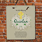 Personalized Irish Blessing Slate Plaque