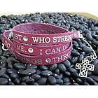 I Can Do All Things Through Christ Leather Wrap Bracelet
