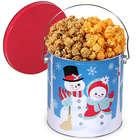 Holiday Snowmen Classic Chicago Mix Popcorn Tin