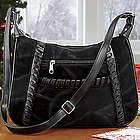 Soho Suede Whipstitch Handbag