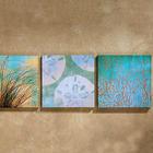 Sea Spa Canvas Painting Trio
