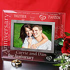Engraved Anniversary Glass Picture Frame