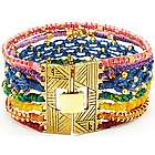 Chakra Woven Cuff Bracelet