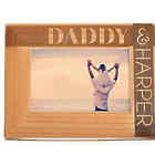 Personalized Daddy and Child Carved Wood Frame