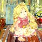 Little Girl's Doll Personalized Art Print