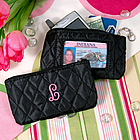 Personalized Quilted Coin Purse with ID Holder