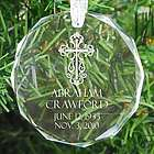 Personalized Memorial Cross Ornament