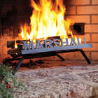 American-Made Steel Personalized Fireplace Grate