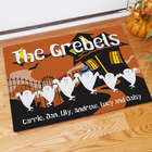 Personalized Ghost Family Halloween Welcome Doormat
