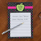 Teacher's Green Apple Personalized Notepad