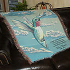 Personalized Hummingbird Memorial Throw Blanket