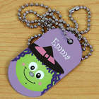 Personalized Witch Halloween Dog Tag