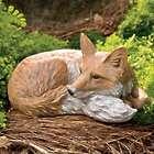 Lying Down Fox Garden Statue