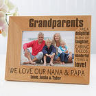 Personalized Wonderful Grandparents Picture Frame