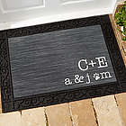 Personalized Family Initials Recycled Rubber Back Doormat
