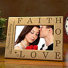 Personalized Faith, Hope, Love Wooden Picture Frame