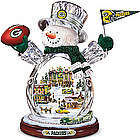Green Bay Packers Masterpiece Edition Crystal Snowman Figurine