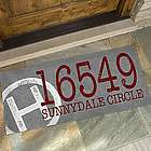 Personalized Initial and Stamped Address Oversized Doormat