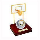 Personalized Crystal Basketball Clock Set