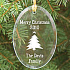 Happy Holidays Personalized Glass Ornament