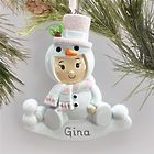 Personalized Baby Snowman Christmas Ornament